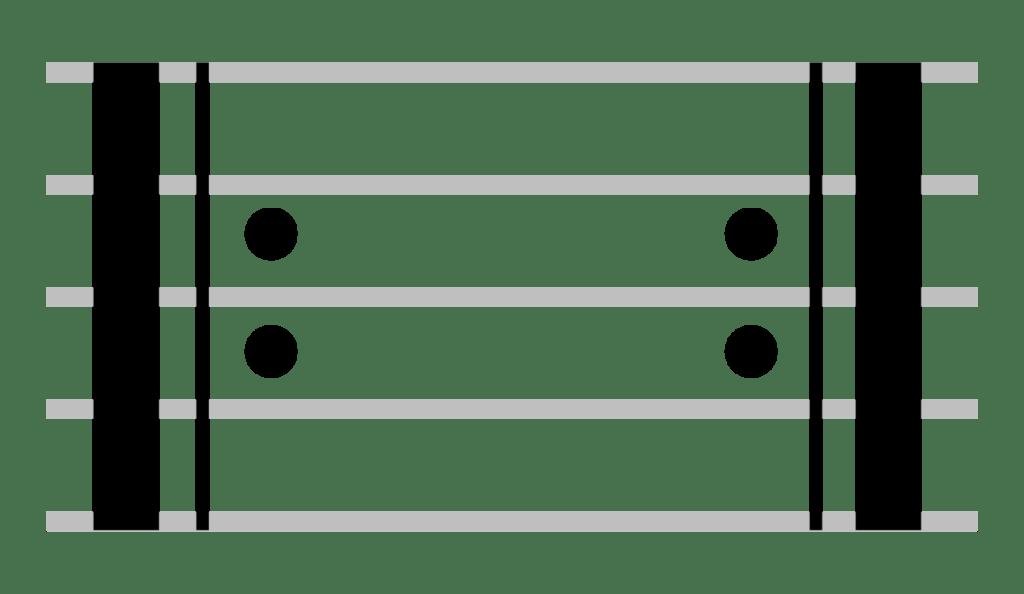 Barras de repetición de compás