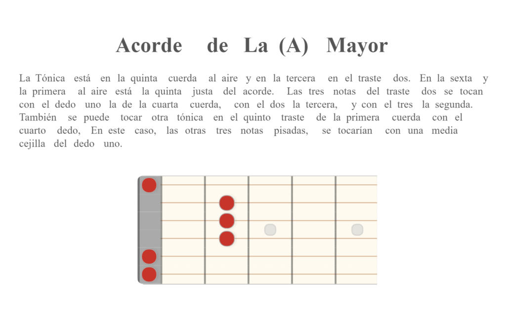 Acorde de La (A) Mayor