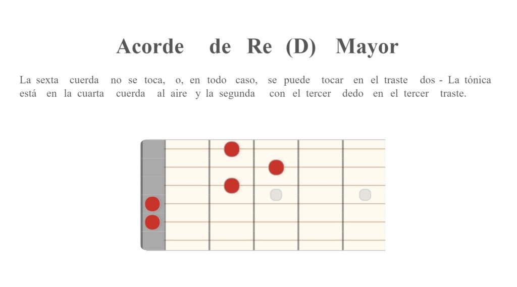 Acorde de Re (D) Mayor