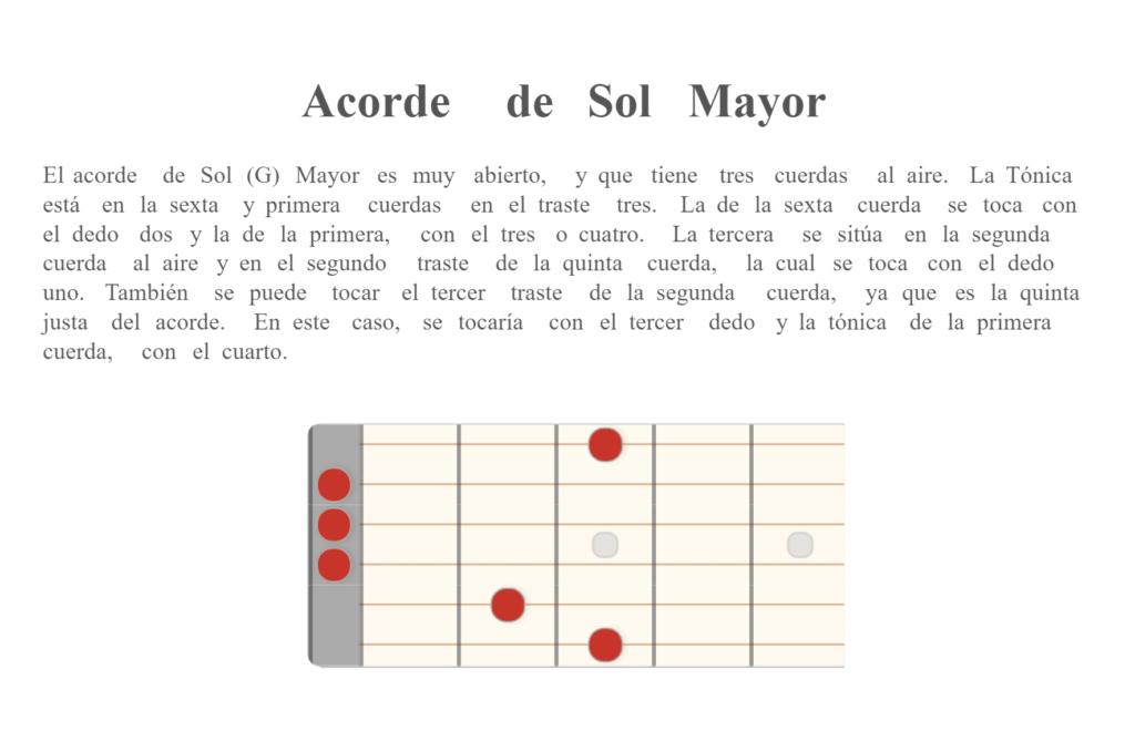 Acorde de Sol (G) Mayor